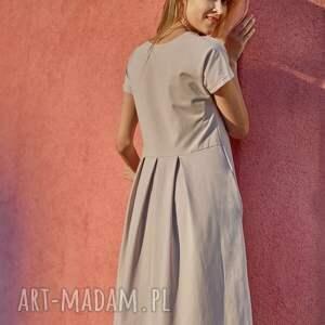 PEACOCK sukienka z dzianiny bawełnianej,