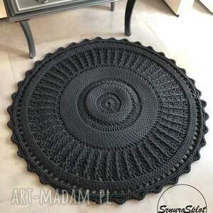 sznurosplot szydełkowy dywan ze sznurka bawełnianego, skandynawski, boho