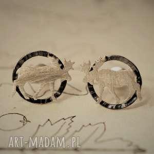 Kolczyki łosie jachyra jewellery łosie, srebro, kolczyki