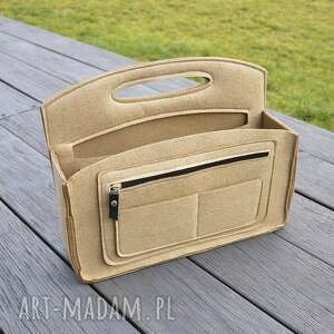 organizer lux do torebki - z uchwytem, organizer, torebka, przybornik, filcowy