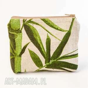 bambusy, kosmetyczka, saszetka, bambus, floralna, roślinny