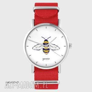 zegarek - pszczoła czerwony, nato, zegarek, pszczoła, unikatowy
