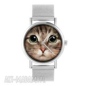 Zegarek, bransoletka - kot tygrysek metalowy zegarki yenoo