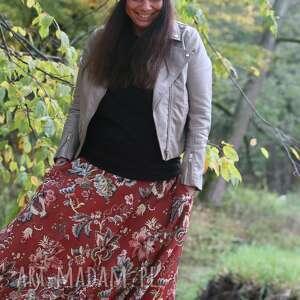spódnica maxi w kwiaty, maxi, flower, boho, dluga spódnica, modnastylizacja