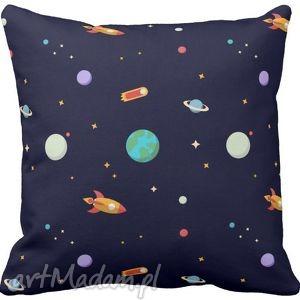 handmade dla dziecka poszewka na poduszkę dziecięca astronauta kosmos 3067