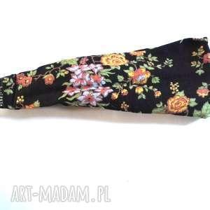 opaska damska materiał gumka kwiaty wiosna dredy, opaska, kwiaty, etno, boho, lato