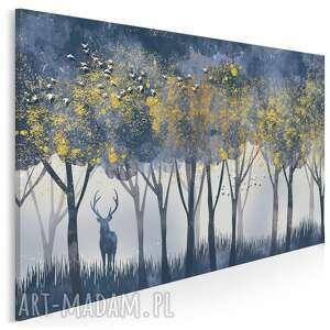 Obraz na płótnie - jeleń złoty las 120x80 cm 98701 vaku dsgn
