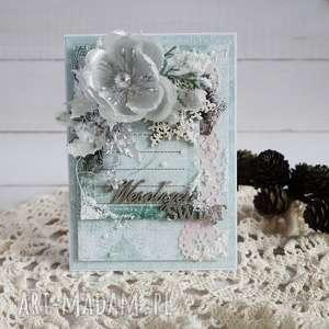 boże narodzenie - w srebrze, kartka świąteczna, narodzenie