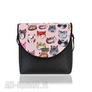 ręcznie zrobione na ramię torebka puro 1746 pink cats