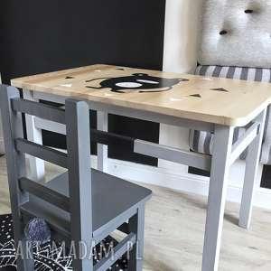 hand-made pokoik dziecka stolik i krzesełko dla dzieci - komplet mebelków