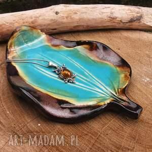 ceramika ceramiczny talerzyk liść c305, listek, talerzyk, junglestyle