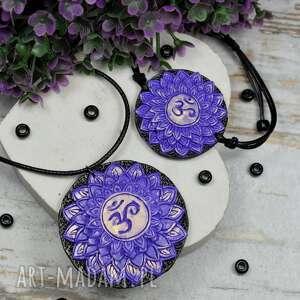 komplet biżuterii sahasrara - bransoletka i wisiorek czakry korony, biżuteria