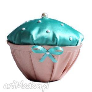 muffin mint pearls box, muffin, perełki, retro, szkatułka