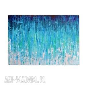 głębia 18, abstrakcja, nowoczesny obraz ręcznie malowany, obraz, ręcznie, malowany