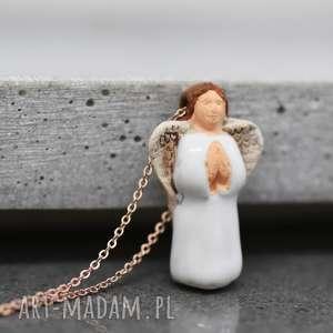 na święta prezenty Anioł stróż Naszyjnik z peruwiańskiej ceramiki, anioł, aniołek