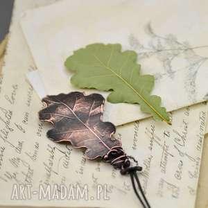 wisiorki oak- naszyjnik z prawdziwym liściem dębu, wisior, naszyjnik-z-wisiorem