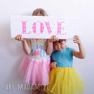 pomysł na prezent święta ŚWIECĄCY NAPIS LOVE dla dziecka dekoracja pokoju