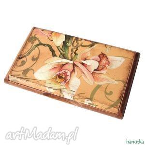 orchidea - wizytownik, prezent, stylowy, romantyczny, orchidea, kobiecy