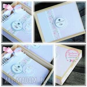 ręcznie zrobione scrapbooking albumy album na chrzest z pudełkiem