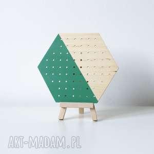 green wood heks mini drewniany stojący organizer na kolczyki, ekspozytor