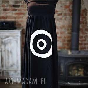 Na celowniku-spódnico-sukienka, wygodna, maxi, czarna, aplikacja, letnia, oryginlna