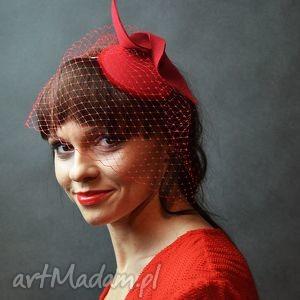 ręcznie zrobione ozdoby do włosów czerwona dama