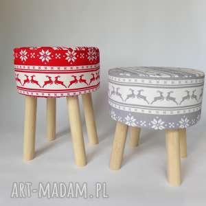 Prezent Fjerne S szary jelonek- stołek w stylu skandynawskim, stołekskandynawski, puf
