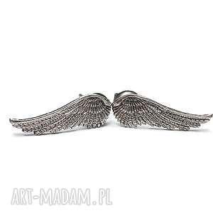 angel vol 4 - kolczyki, skrzydełka, sztyfty, drobne, srebro