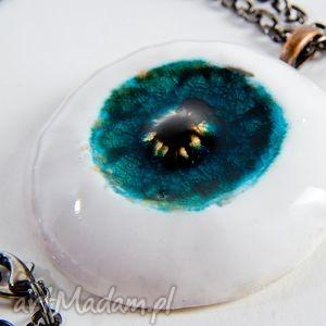 wisiorki trzecie oko - dark blue eye wisior naszyjnik, wisior, wisiorek