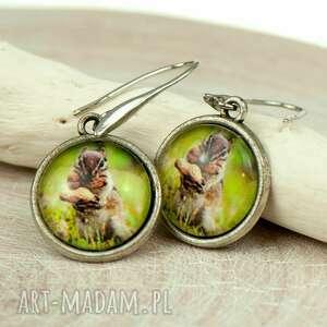 Wiewiórki kolczyki z garfiką c079 everyday women wiewiórka