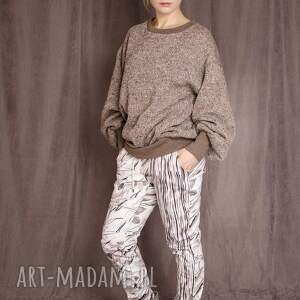 spodnie z drukowanej bawełny, nadruk, drukowane, bawełna, wzór, art spodnie
