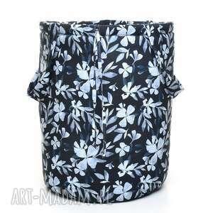 pracownia-milutka kosz worek na zabawki blue flowers - pojemnik