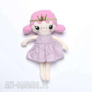 hand made lalki lalka bawełniana księżniczka z koroną