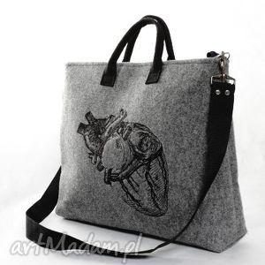 serce na laptopa, torba, torebka, laptop, laptopówka, filc, mana-mana torebki