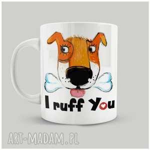 Prezent Kubek I Ruff You, personalizacja, prezent, dog, śliczny, ceramika, psiaki