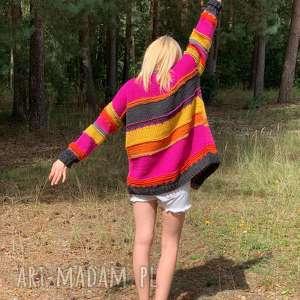 ręczne wykonanie swetry ciepły sweter boho style