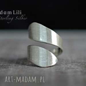 handmade pierścionki 925 srebro minimalistyczny pierścionek