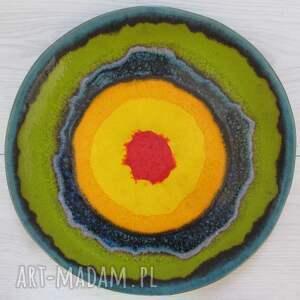 energetyczna patera ceramiczna, talerz-ceramiczny, dekoracyjny-talerz, ozdobny-talerz