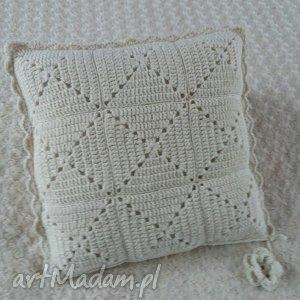 poduszka wykonana ręcznie wełna 45x45 cm 1szt, poduszki, poduszka, poszewka