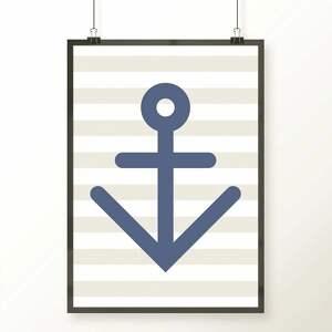 Plakat KOTWICA, kotwica, morze, pirat, obrazek