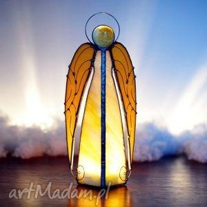 anioł uriel, dekoracje, lampion, rękodzielo, witraż, anioły, prezent