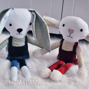 hand-made maskotki przytulanka królik lub owieczka w ogrodniczkach świetny pomysł