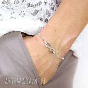 srebrna bransoletka z nieskończonością forever /na zawsze/, biżuteria na prezent