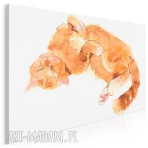obraz na płótnie - kot rudy zwierzę 120x80 cm 701001, kot, kotek