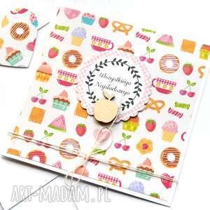 wszystkiego najsłodszego :: kartka handmade, urodziny, urodzinowa, imieniny