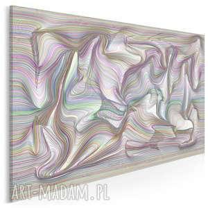 obraz na płótnie - linie abstrakcja fale 120x80 cm 84201, linie