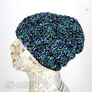 061 czapka beanie ciepła włóczka unisex czapki godeco czapka