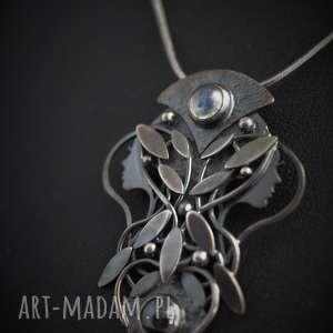 handmade wisiorki srebrny wisior księżycowy - pełnia i zaćmienie