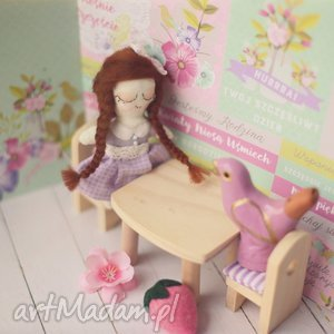 Mini Bajka - Lalka Monika, lalka, zabawka, domek, dla, lalek