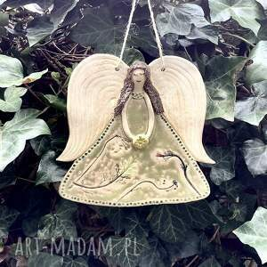 anioł ceramiczny ręcznie robiony, z gliny, anioł, aniołek